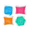 buy button happy emotion and comments icons vector image vector image