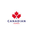 canadian house home mortgage logo icon vector image vector image