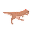 cartoon tyrannosaurus dinosaur character jurassic vector image