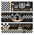 chess game academy open tournament poster vector image vector image