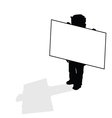 child holding card silhouette vector image vector image