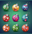 christmas ball happy new year vector image vector image