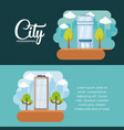 city elements design vector image vector image