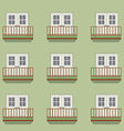 Closed Doors With Balcony Vintage Style vector image vector image