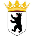 coat of arms of berlin germany vector image