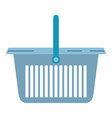 colorful silhouette of laundry basket with one vector image vector image