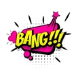 Comic pink sound effects pop art word bang vector image vector image