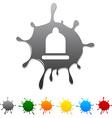 Condom blot vector image