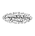 congratulations lettering handwriting vector image