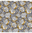 decorative rose flowers seamless pattern vector image vector image
