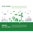 digital green city ecology icons vector image