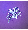 Fashion Boutique Concept on Abstract Violet vector image