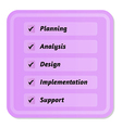 five steps in development cycle vector image vector image