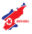 flag and map of north korea vector image vector image