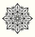 flower decorative mandala design element vector image vector image