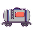 gasoline railroad tanker icon cartoon style vector image vector image