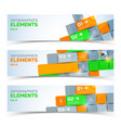 geometric business infographic horizontal banners vector image vector image