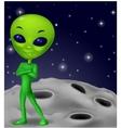 Green alien cartoon vector image vector image