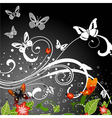 grunge butterfly background vector image vector image