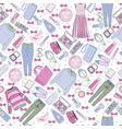 hand drawn fashion collection of clothes and vector image vector image