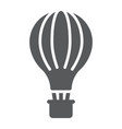 hot air balloon glyph icon airship and flight vector image