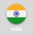 india flag round icon with shadow vector image vector image