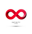 Infinity symbol red endless icon isolated on