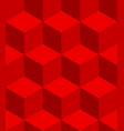 isometric cubes seamlessly repeatable pattern 3d vector image vector image