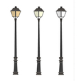 Lamppost Lanterns Street lights Lamp post vector image