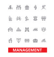 management teamwork marketing strategy human vector image vector image