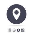 map pointer icon gps location symbol vector image