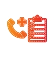 Medical consultration sign Orange applique vector image vector image