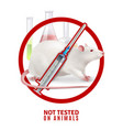 not tested animals design concept vector image