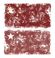 old scratched flag of china vector image vector image