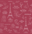 paris romantic seamless pattern spring tour vector image vector image