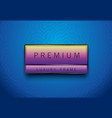 premium rainbow color label with black frame on vector image