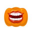 pumpkin screams open mouth for halloween pumpkin vector image vector image