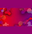 red and purple background with abstract pattern vector image vector image