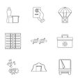 Refugee status icons set outline style vector image vector image