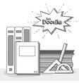 school supplies doodle vector image