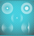 set of isolated transparent sound waves vector image