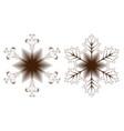 set of snowflake icon vector image vector image