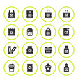 set round icons of package vector image vector image