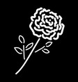 single rose white sign 210 vector image vector image
