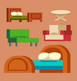 sofa isolated isolated vector image vector image