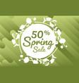 spring sale sticker special offer big sale poster vector image