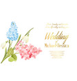 spring syringa flowers background for the wedding vector image vector image