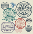 stamp set delaware vector image