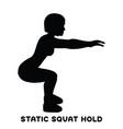 static squat hold squat sport exersice vector image