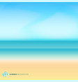 summer season landscape blurred background with vector image vector image
